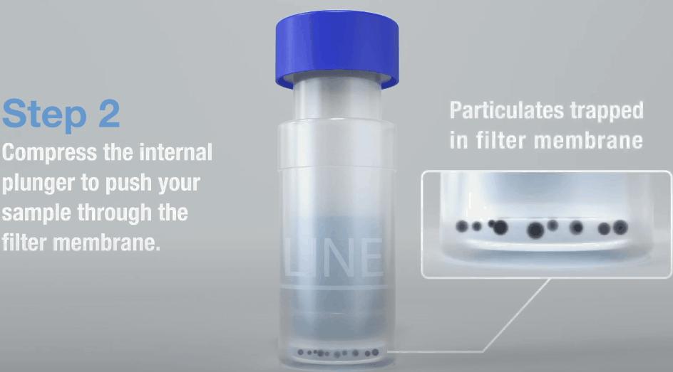 step 2 compress the internal plunger